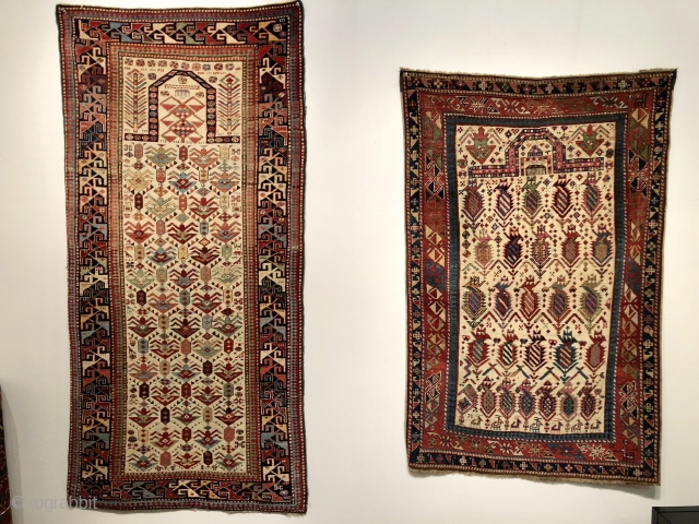 A couple of lovely prayer rugs an Akstafa and a Daghestan (?)