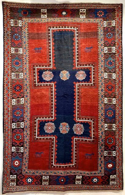 Beautiful antique kazak possibly a Talish ca 1880 excellent condition great wool and natural dyes  Size 232 x 147 ask for more pics