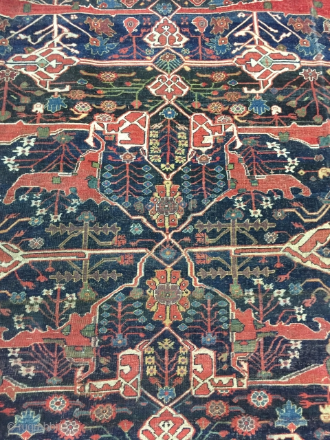 Lovely and Massive Bijar Garrus carpet ca 1880