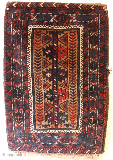 very nice and complete antique Baluch balisht ca 1900 size 72 x 49 cm.