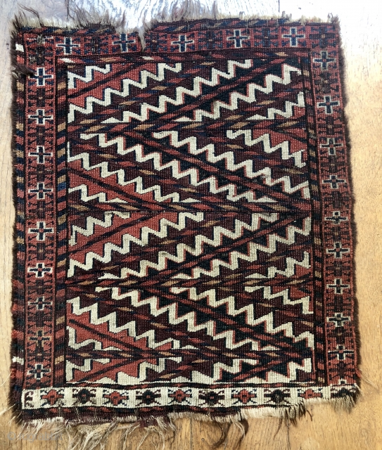 Unusual Yomud ok bash ca 1880 good colours very dirty $500 inc postage