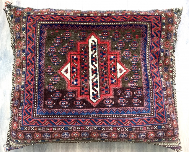 Very unusual antique complete saddlebag ca 1900
