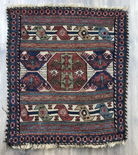 Good Antique Shahsavan bag face ca 1880