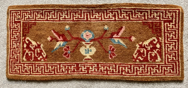 Sweet antique Tibetan pillow  ca 1920 s.  Unusual colour great condition  size 84 x 35 cm