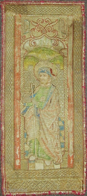 Orphrey panel from a 15C Flemish Chasuble. 