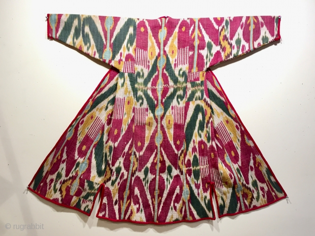 A good antique Uzbek quilted silk chapan ca 1860