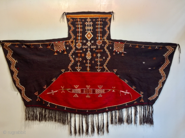 Old Moroccan Aknif all wool size 238 x 141 cm