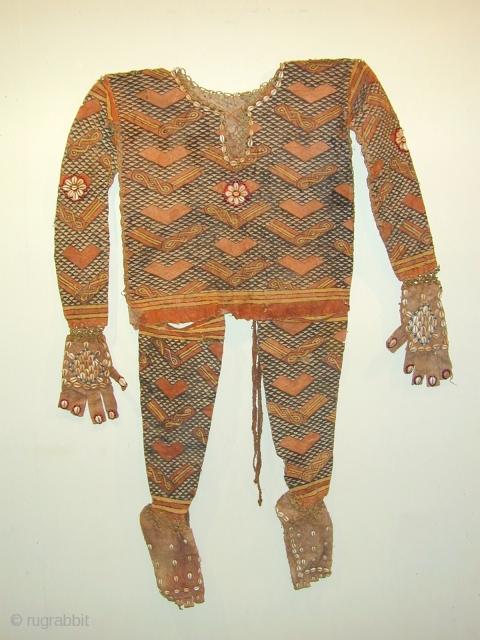 Kuba ceremonial dancing costume , bark fibre and organic pigments 2nd Qtr 20C