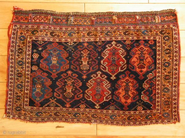"Afshar bagface, L 19th c; 1'9"" x 2'8"""