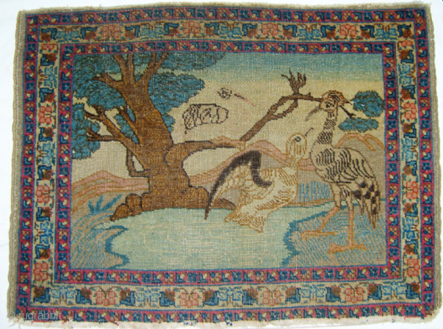 An unusual pictorial Pushti about 27inches by 20inches