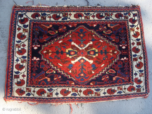 A mighty fine Afshar Bagface. Great quality, color, design, and weave. 20 by 29 inches.