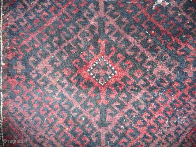 Good old Baluch bagface , intense dark colours , old moth damage reflected in the price