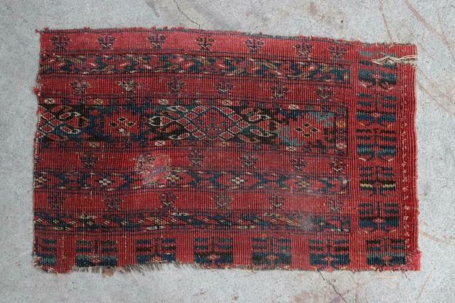 Nice ersari chuval fragment, 66x40 cm, ca 1850's.