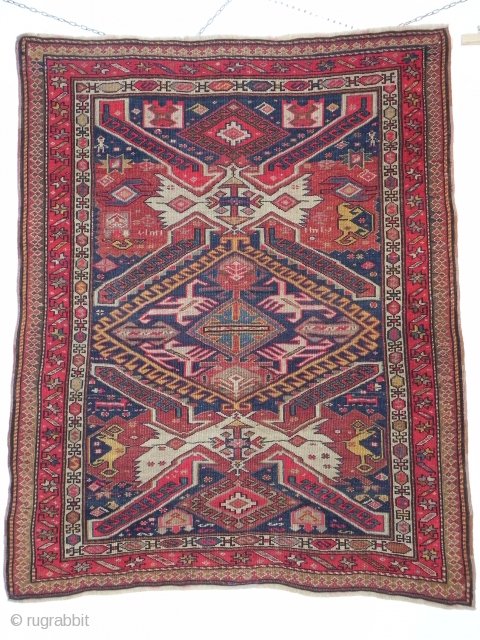 zeikur Caucasian antique wonderful colours and very good condition Circa 1900  size    146x120