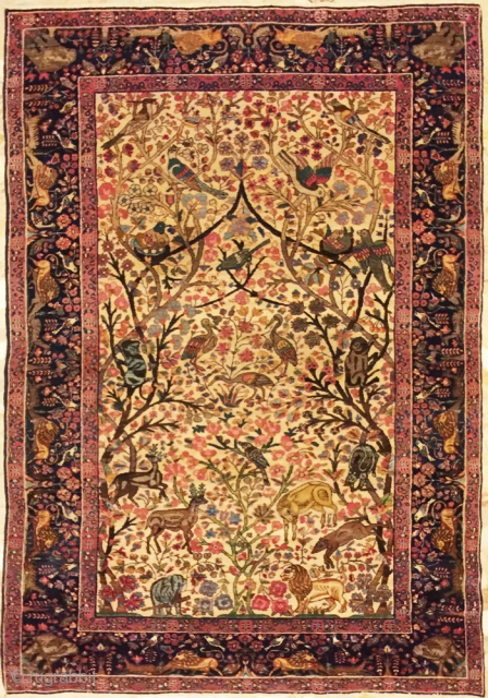 special kirman lavar antique  size 230x135 in good condition