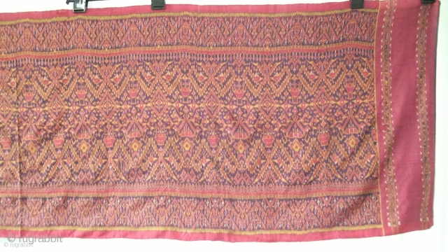 Cambodian textile Cambodia 001(318cm x 84cm - 125in x 33in) good condition, color very good, one medium size repair on left side of cloth, late 19th century.