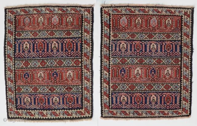"Caucasian Kuba Khyzy bag face khorjin mafrash sileh soumaks rugs  21""x25"" (53x65cm) Very good original condition, no repairs."