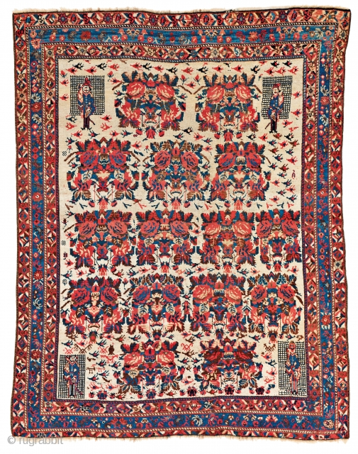 Lot 12, Afshar, 149 x 117 cm (4ft. 11in. X 3ft. 10in.), starting bid Euro 2000, auction tomorrow Saturday 5pm, https://www.liveauctioneers.com/item/58683502_afshar-persia-ca-1880-149-x-117-cm-4ft-11in-x-3ft