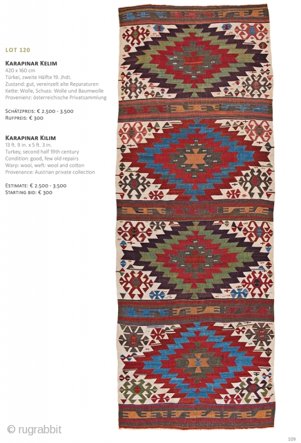 Auction on March 30th at 4pm, all on offer with no reserve! https://www.liveauctioneers.com/item/69912836_karapinar-kilim