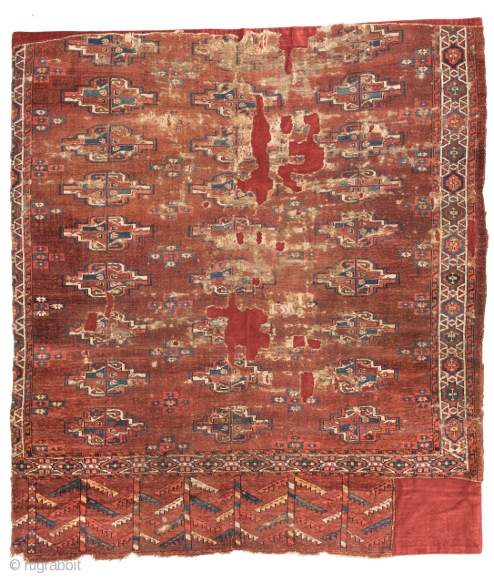 Lot 41, Yomud main carpet fragment, start price: € 300, Auction 30th April 3pm, http://www.liveauctioneers.com/auctioneers/LOT44821906.html