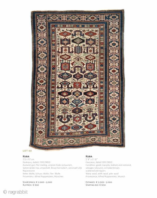 Auction on June 22 at 4pm, https://www.liveauctioneers.com/catalog/143574_fine-antique-oriental-rugs-xvi/