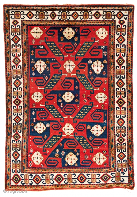 Lot 168, Pinwheel Kazak, starting bid € 8000, Auction October 14 5pm, https://www.liveauctioneers.com/catalog/109605_fine-antique-oriental-rugs-viii/?count=all