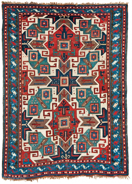 Lot 184, Star Kazak, starting bid € 14000, Auction October 14 5pm, https://www.liveauctioneers.com/catalog/109605_fine-antique-oriental-rugs-viii/?count=all