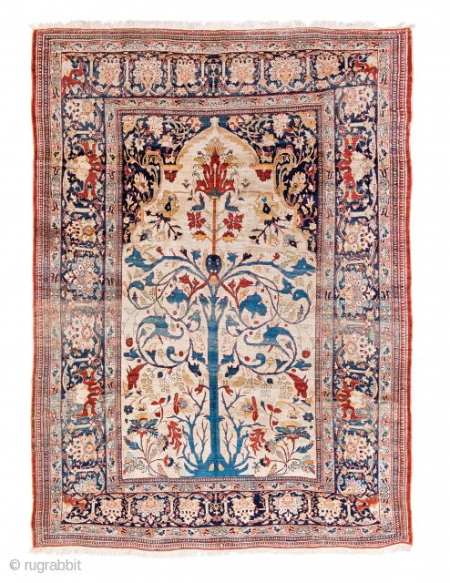 Lot 10, Heriz Silk, Persia circa 1880, 8ft. 10in. x 6ft. 5in., 270 x 196 cm