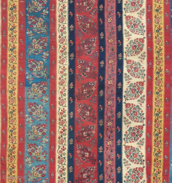 Circa 1800 Kashmir shawl (detail pic)  with incredible color. Ask for more pics.   Please visit our website for more collectible woven art : www.bbolour.com