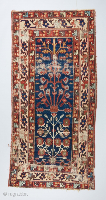 An early Northwest shrub runner that has been reduced in length. Ca. 1800. Great color and drawing.   Please take a look at our website for more collectible and decorative woven art :  ...