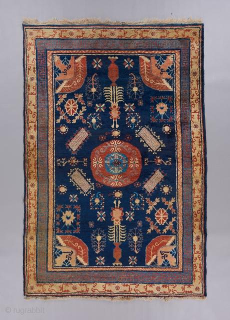 "Gansu rug measuring 6'3"" x 4'3"". Near perfect condition."
