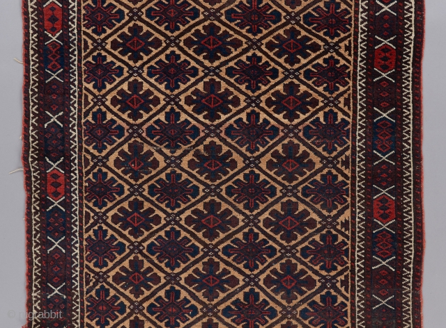 "Baluch rug in good condition with very good color. 6' x 3'1"". 