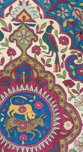 Detail of a great Azerbaijan silk textile from the 18th century.