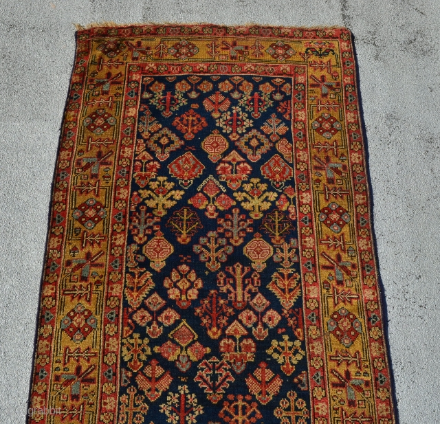 "early kurdish runner. 12'4"" x 3'"