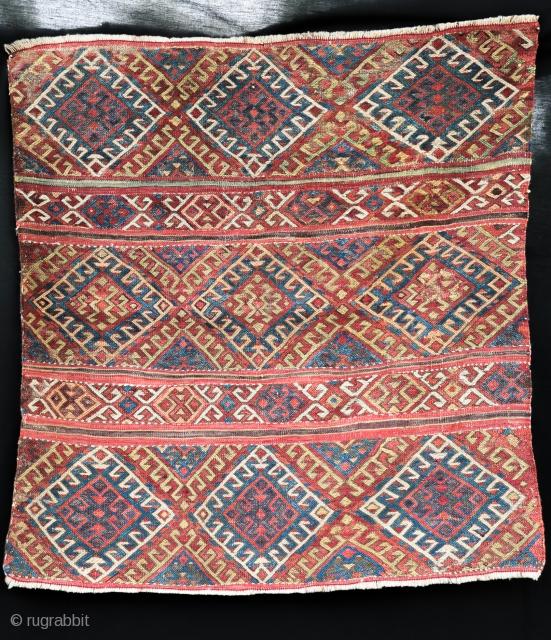Konya fragment , XIX century .  Size 85/85 cm