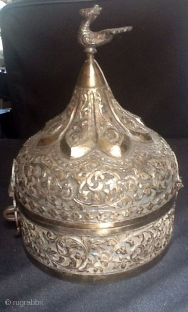 19th Century : Silver 'Khasdan' from Lucknow,India