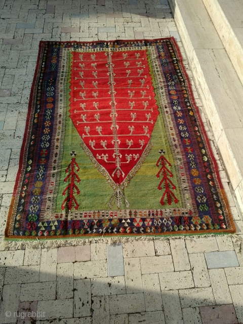 obruk (konya) kilim rug // From private collection // Late 19th century // Old but in top condition // For more information, feel free to send a message