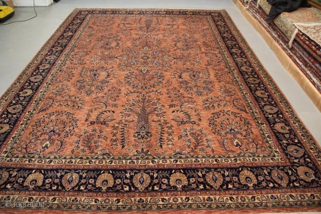 Sarough 20th century, full pile, excellent condition, size: 4,20 m x 3,00 m