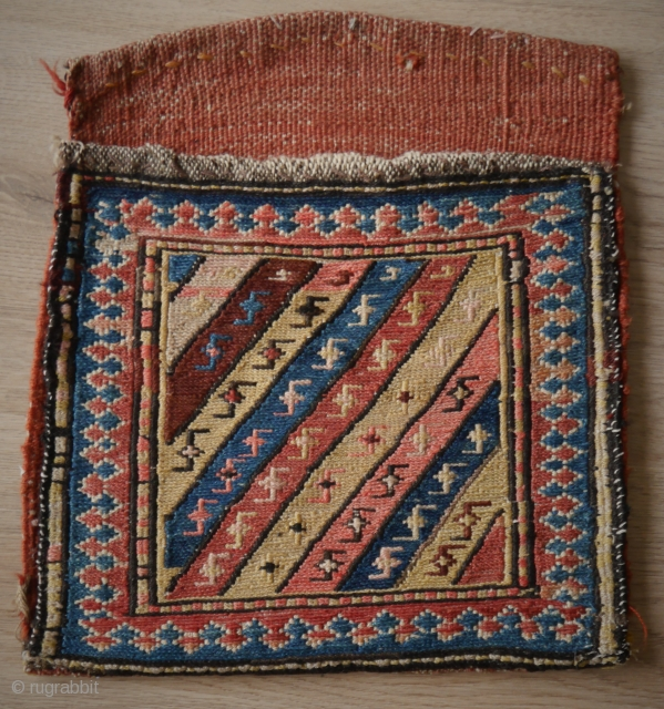 Shahsevan sumak chanteh, fine weave, good condition, good age, 31 x 27 cm.