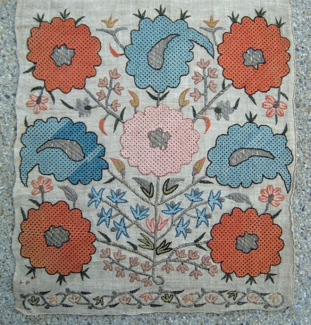 My other Brimfield purchase. One end of a complete beautiful late 18th/early 19th century Ottoman towel (The piece IS complete). Please feel free to contact for additional photos and price. In excellent  ...
