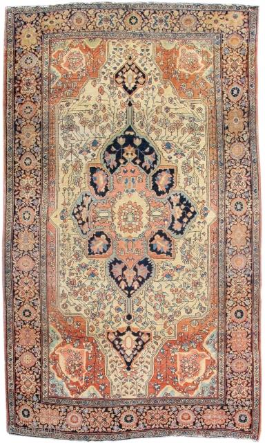 "late 19th century Fereghan Sarouk rug, 4'3""x6'7"""
