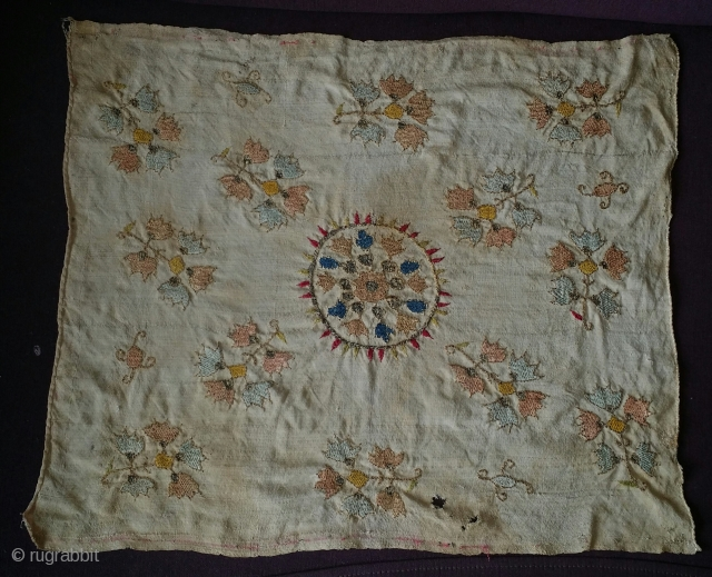 small Ottoman embroidery. Probably Thrace,  19th century.