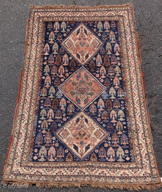 "Super soft Qashqai rug, 4'1""x5'0"""