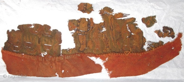 Shanpula type slit tapestry textile fragment. 2000 years old. For more information see Abegg-Stiftung, Riggesberger Berichte no. 10, 'Fabulous Creatures from the Desert Sands: Central Asian Woolen Textiles from the Second Century  ...