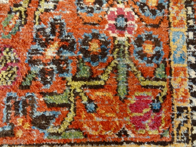 ANTIQUE 1860-1880's SILK ON COTTON EAST-TURKESTAN KANSU REGION BEAUTY   5' 8 x 12' 6     /    179 x 385 cm  Direct Contact Info: Bernard Zarnegin Interiors,  ...