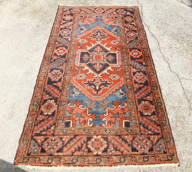 Antique lovely tribal Heriz, antique ebay Auction Start:  https://www.ebay.com/itm/383606498957