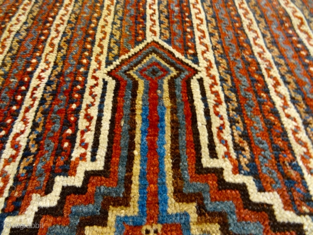 ANTIQUE 19 C ULTRA RARE EYE DAZZLER CHAMSEH AFSHARI RUG 