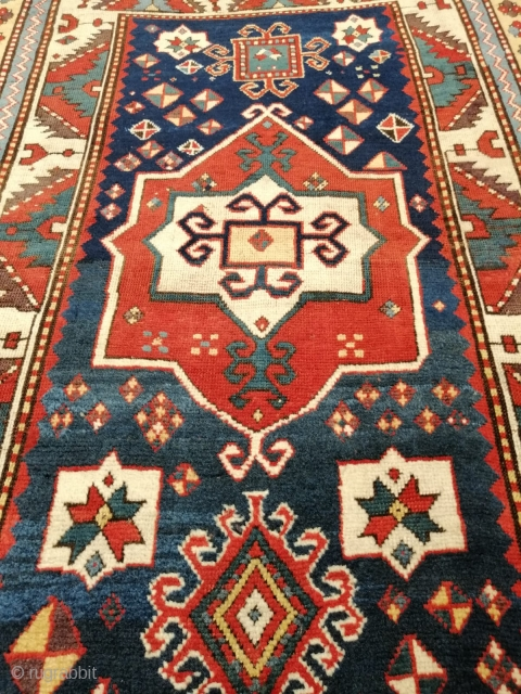 Fabulous Fachralo rug in very good condition, few minor repairs, great colors, around 1800, 195 x 115 cm, for my eyes one of the best existing