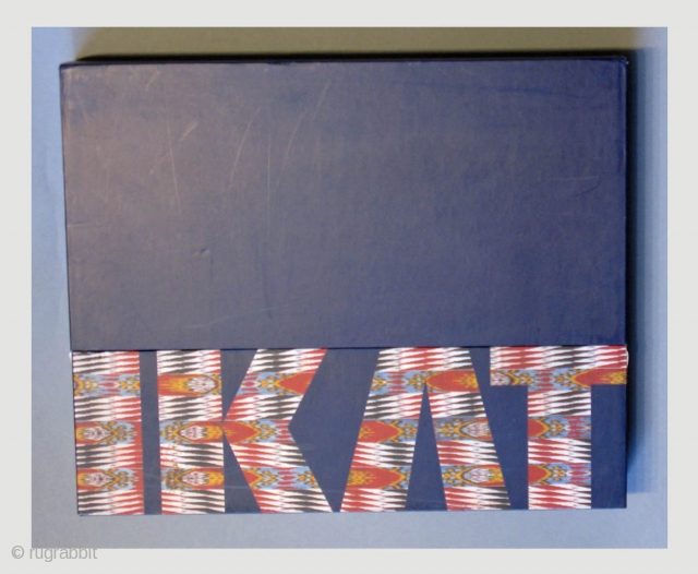 Over-sized hard cover book in a box  IKAT: Splendid Silks of Central Asia - The Guido Goldman Collection by Kate Fitz Gibbon and Andrew Hale  Published in 1997 by Laurence King Publishing.  ...