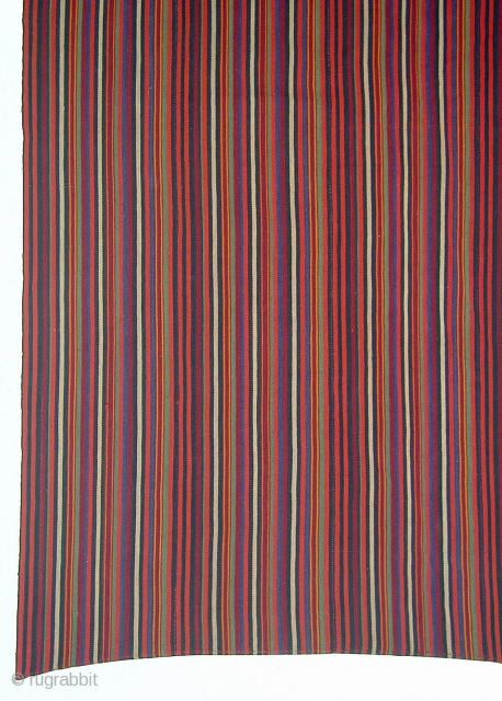 Djidjim --- Persia, probably Shasavan --- wool --- 235 x 265 cm --- stitched together from 11 stripes - the picture shows only a detail --- perfect condition --- Thank you for  ...